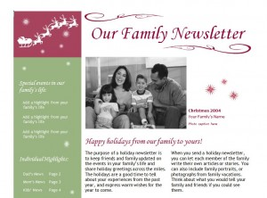 Christmas newsletter template christmas newsletter free christmas newsletter template spiritdancerdesigns Images