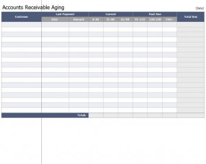 The free Accounts Receivable Aging Workbook