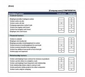 The Employee Contractor Checklist
