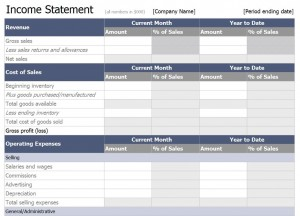 The Excel Income Statement Template