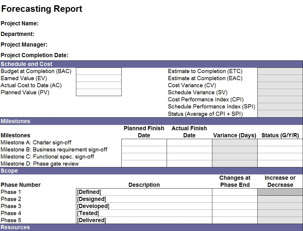 project forecasting template excel forecasting templates excel sales forecast template
