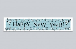 The Happy New Year Banner