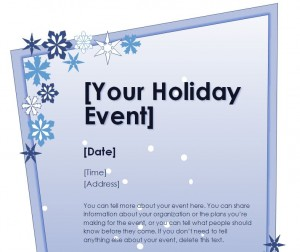 Download the Holiday Flyer Template