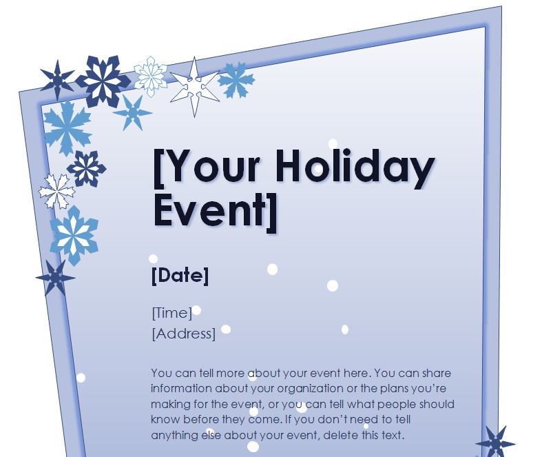 Holiday Flyer Template | Holiday Party Flyer Template