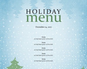 Download the Holiday Menu Template