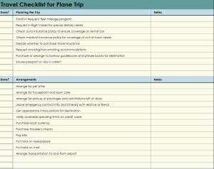 The Plane Trip Checklist