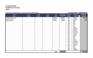 The free Sales Lead Sheet Template