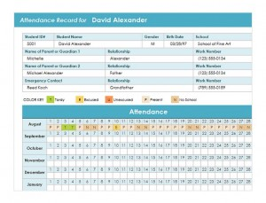 Student-Attendance-Template-300x229 Template Cover Letter Fax Teachers Education Expense Sheet Size on