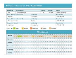 Student Attendance Template