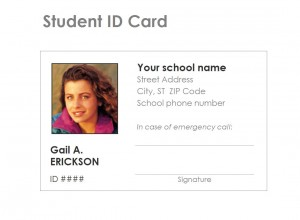 The Student Identification Card Template