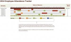 Free 2014 Employee Attendance Tracker