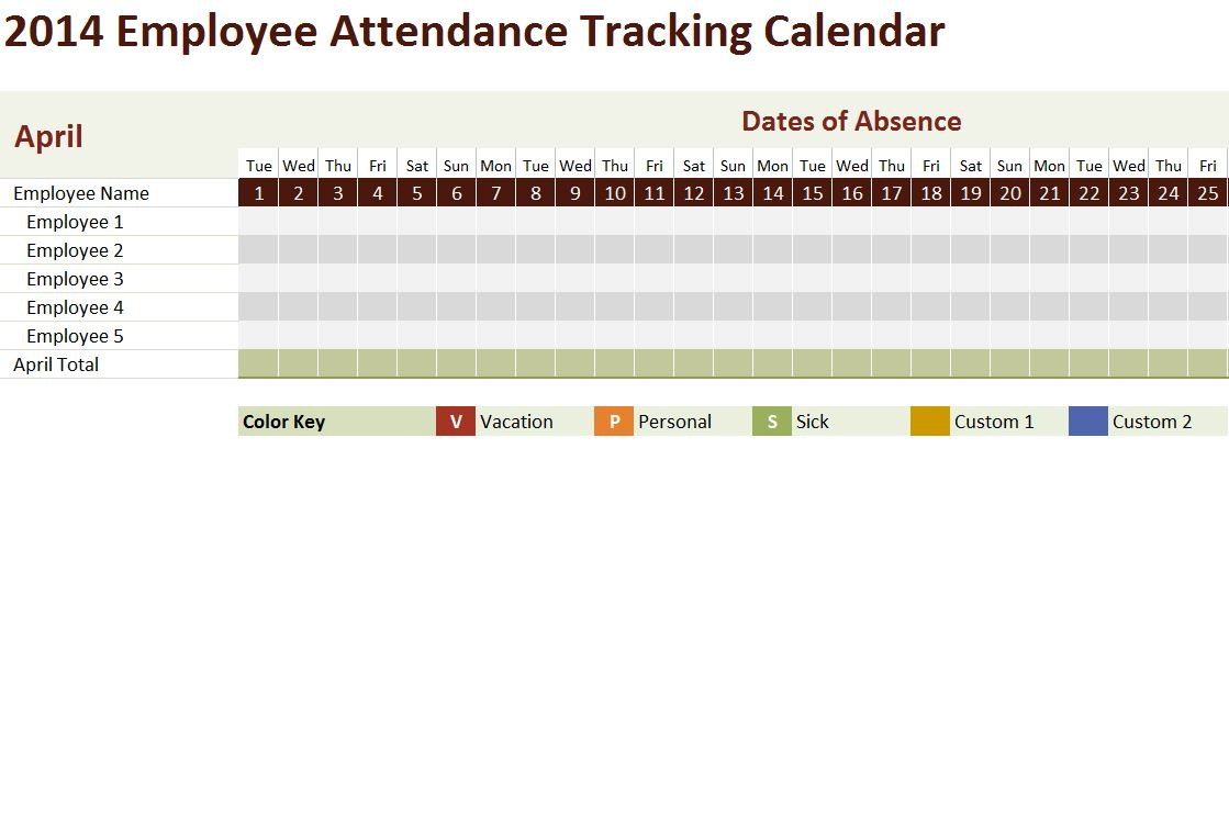 how to use excel employee absence schedule