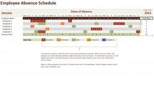 2014 Employee Vacation Tracker