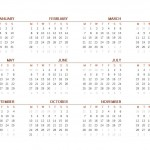 Free 2016 Printable Calendar One Page