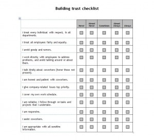Free Building Trust Checklist