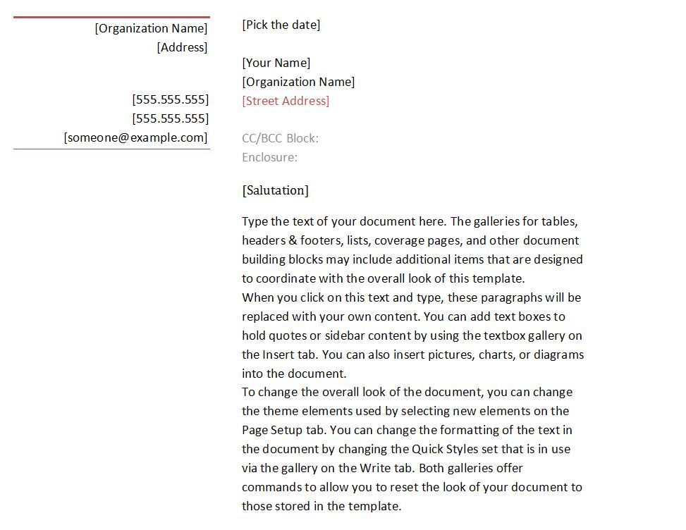 Business Letter Format Template  Business Letter Format