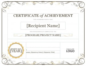 How To Use The Certificate Of Achievement Template Word Document  Certificate Of Achievement Template