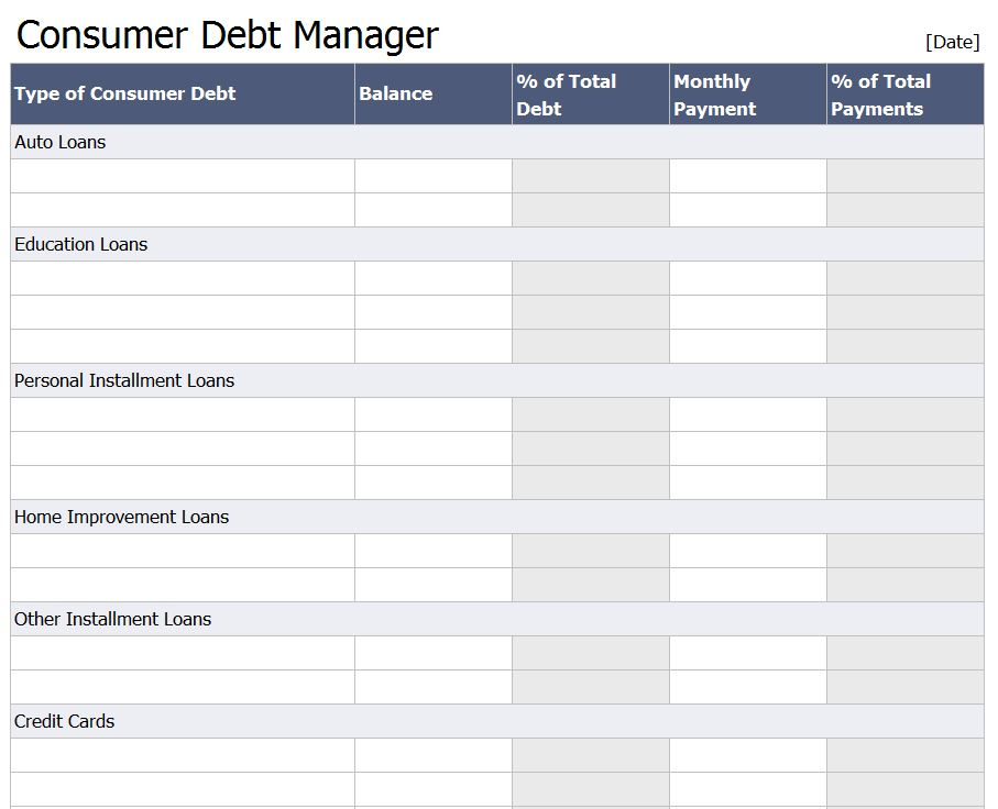 Debt Reduction Calculator  Free Debt Reduction Calculator