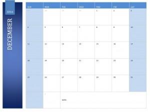 Free December 2016 Calendar