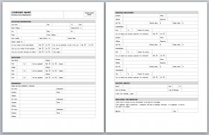 employment application template employment application form