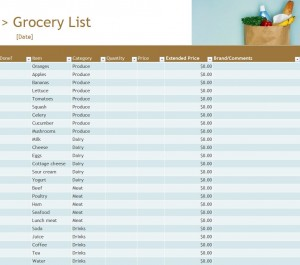 Grocery Inventory List