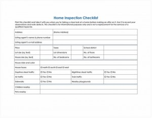 Free Home Inspection Checklist