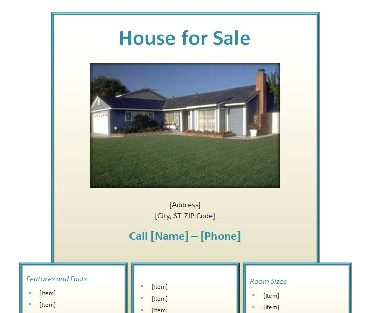 home for sale by owner flyer template - home for sale flyer home for sale flyer template