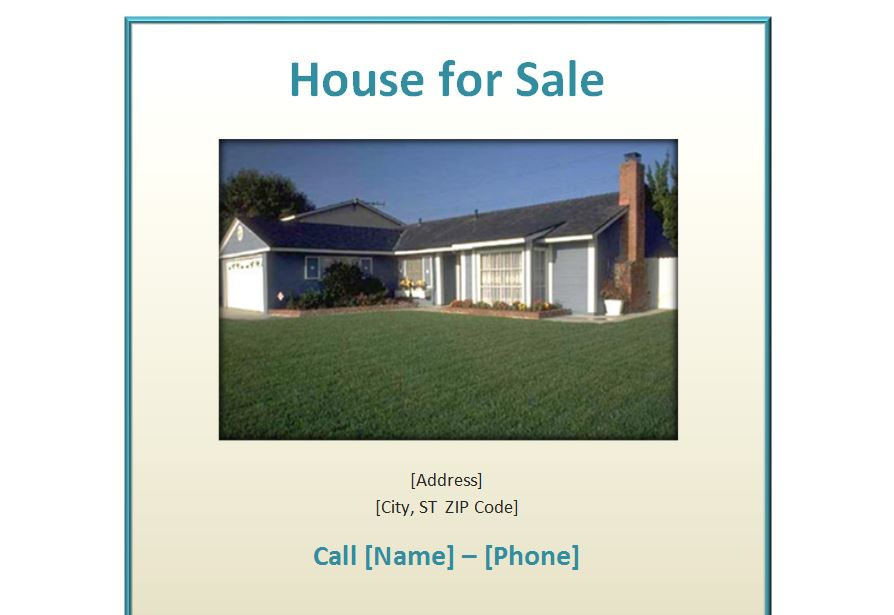 House For Sale Poster  BesikEightyCo