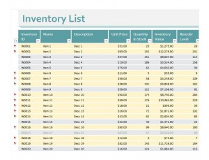 Inventory Excel Sheet