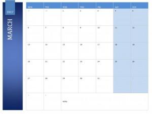 March 2017 Calendar Free