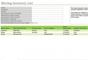 Free Moving Inventory List