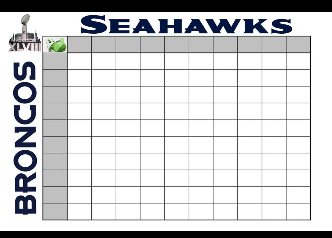 ... Templates Super Bowl Squares Template - Super Bowl Squares Super Bowl
