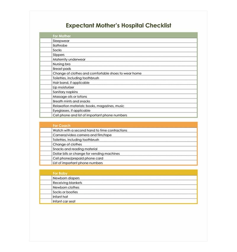Pregnancy Hospital Bag Checklist | Pregnancy Hospital ...