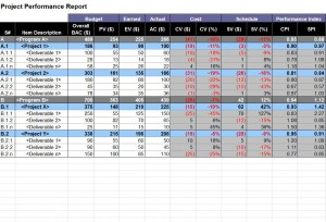 Using The Project Performance Report Template