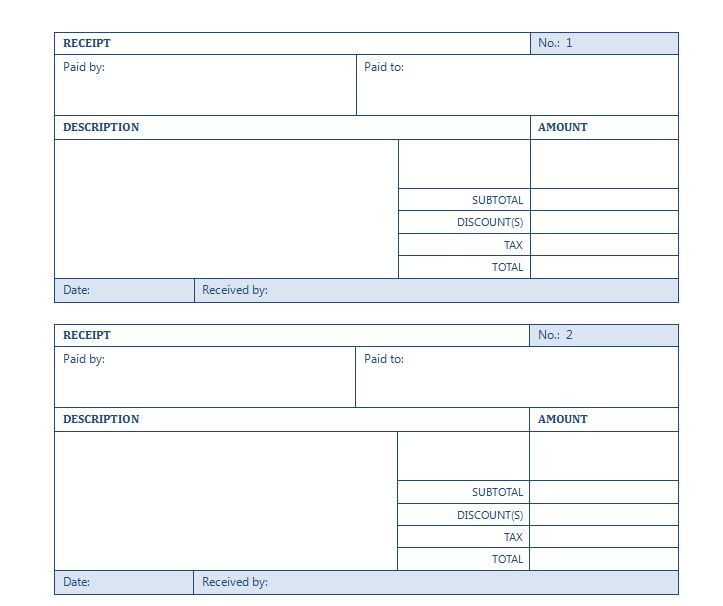 Rental Receipt Template – Rental Receipt