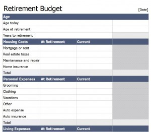Free Retirement Budget Template