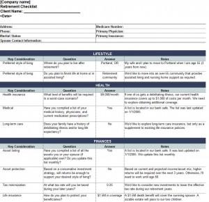 Free Pre Retirement Checklist