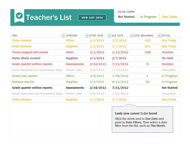 teacher to do checklist