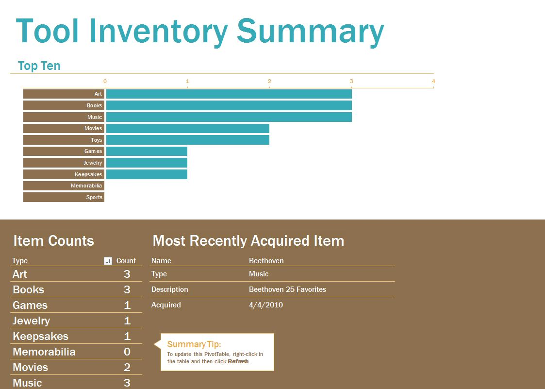 tools inventory template