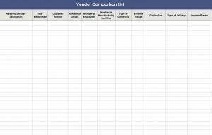 vendor contact template