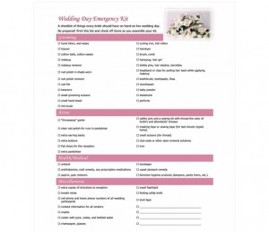 Free Wedding Day Checklist