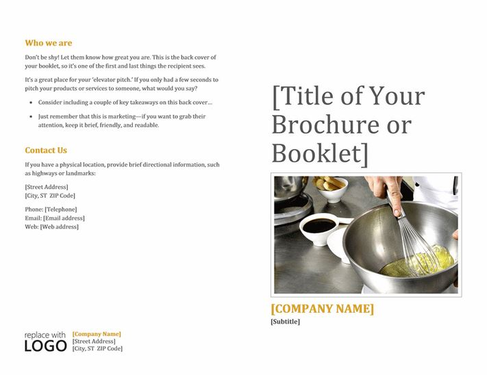 Booklet Template Word