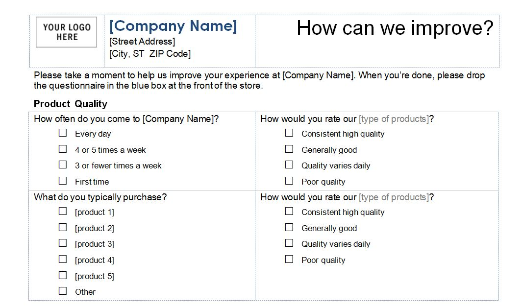 Customer Service Survey Template