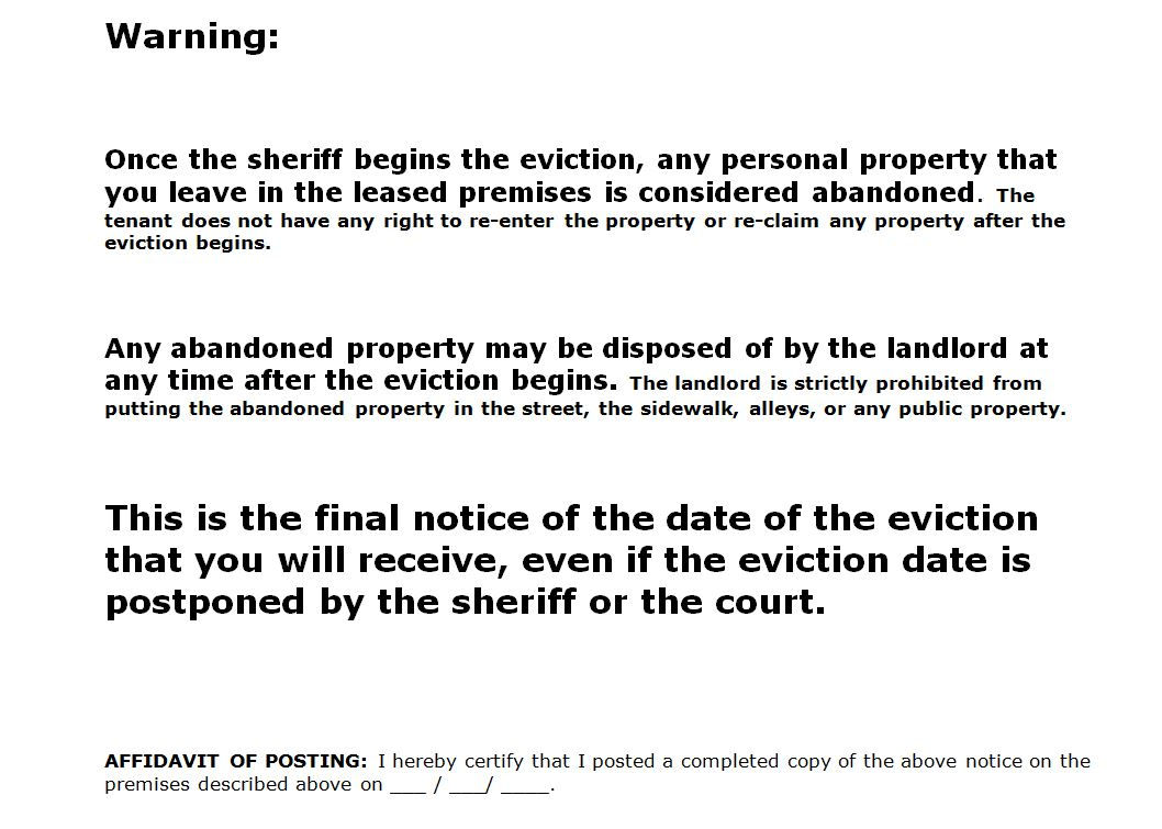 eviction notices template – Eviction Letters Templates