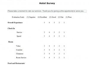 Hotel Guest Survey