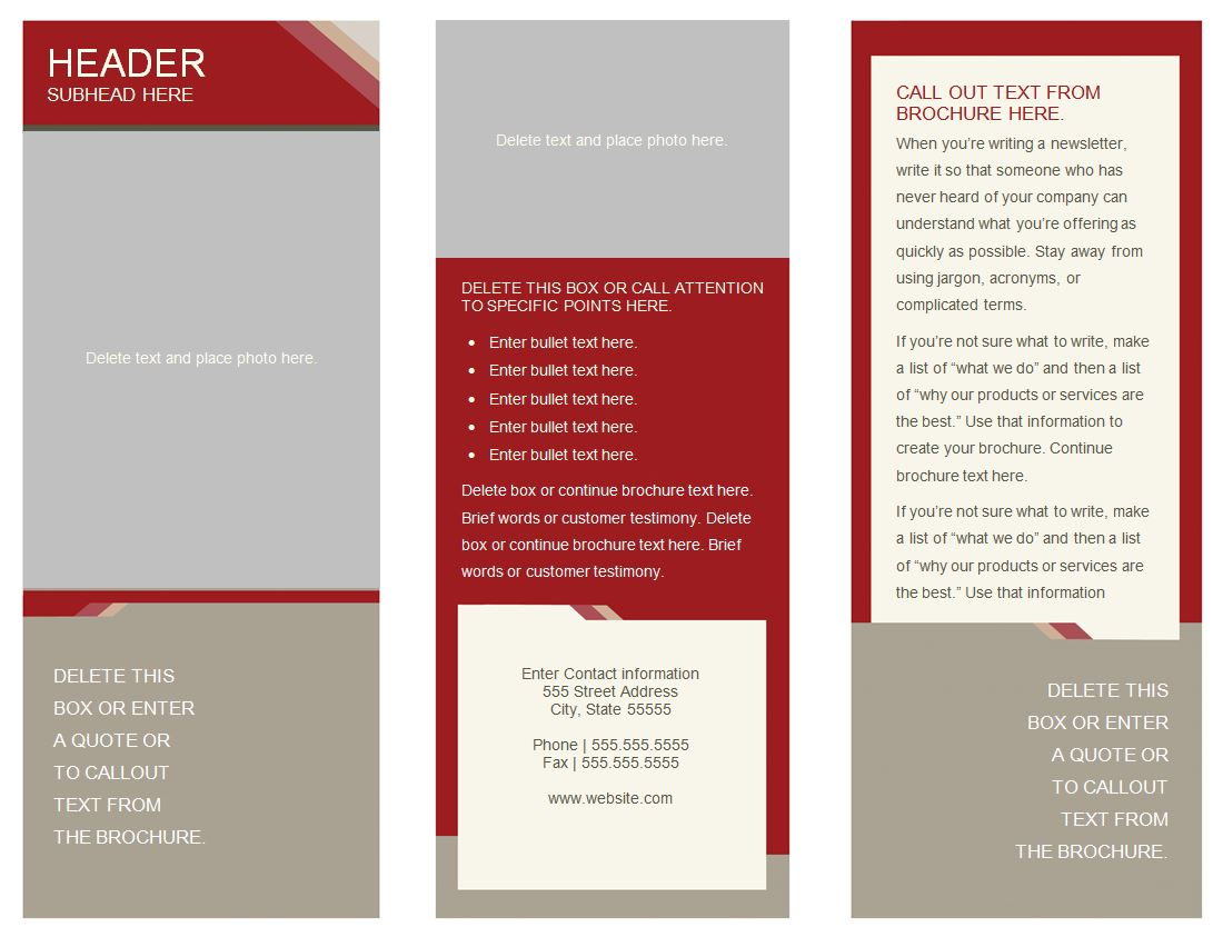 Medical Brochure – Medical Brochure Template