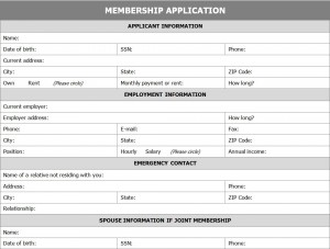 Amazing How To Use Membership Application Form Templates Within Membership Forms Templates
