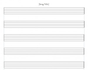 Using The Music Staff Paper Template