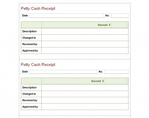 My Excel Templates  Petty Cash Receipt Sample