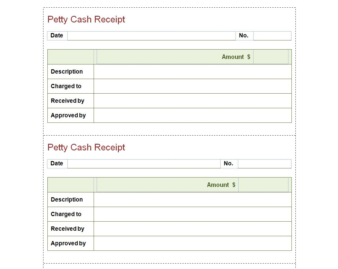Petty Cash Receipt